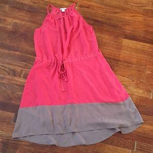 Orange Slip Dress